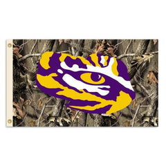 LSU Tigers 3 x 5-Feet Camo Background Flag with Grommets