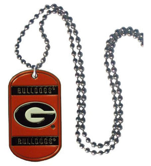 Georgia Bulldogs 36-Inch Ball Chain Necklace with Licensed Tag