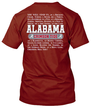 Alabama Crimson Tide Find a Fan Tshirt
