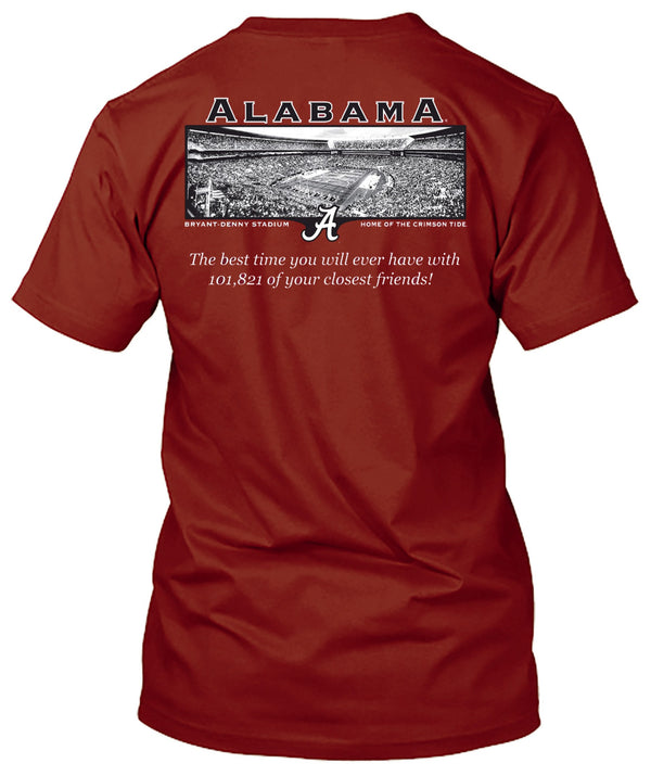 Alabama Crimson Tide Friends in Bryant Denny Stadium Tshirt