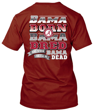 Alabama Crimson Tide Born and Bred Tshirt
