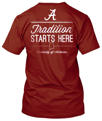 Picture of Alabama Crimson Tide Tradition Starts Here T-shirt