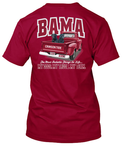 Picture of Alabama Crimson Tide Truck Dogs Loyalty Tshirt