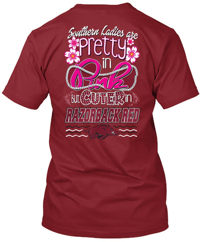 Picture of Arkansas Razorbacks Pretty in Pink Tshirt