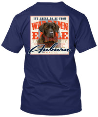 Auburn Tigers Lab with Bow Tie Tshirt