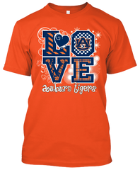 Auburn Tigers Love T-shirt