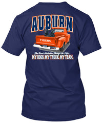 Auburn Tigers Loyalty Truck Dogs Tshirt