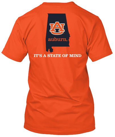 Picture of Auburn Tigers State of Mind Home Orange T-shirt