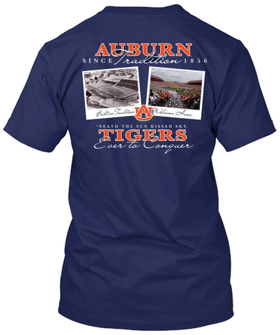Picture of Auburn Tigers Then and Now T-shirt