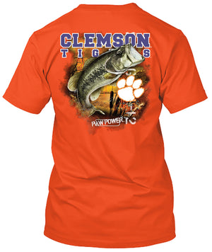 Clemson Tigers Big Time Bass Fishing Tshirt