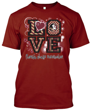 Florida State Seminoles Love T-shirt