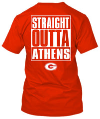 Georgia Bulldogs Straight Outta Athens Tshirt