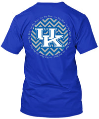 Kentucky Wildcats Blue Chevron T-shirt