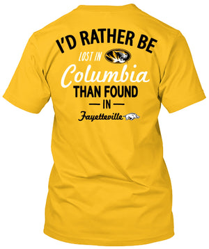 Missouri Tigers Lost in Columbia