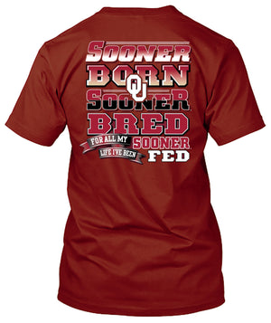 Oklahoma Sooners Born and Bred Tshirt