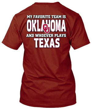 Oklahoma Sooners Favorite Team Tshirt