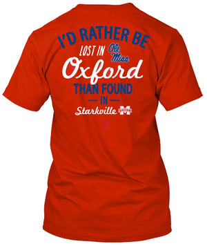 Ole Miss Rebels Lost in Oxford T-shirt