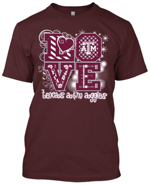 Texas A&M Aggies Love T-shirt
