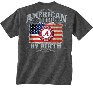 Alabama Crimson Tide American by Birth Tshirt