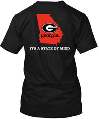 Georgia Bulldogs State of Mind Home Black Tshirt