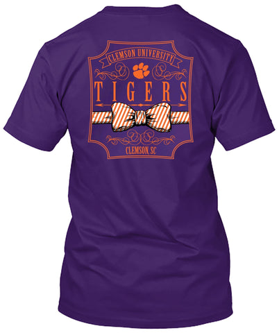 Picture of Clemson Tigers Bow Tie Tshirt