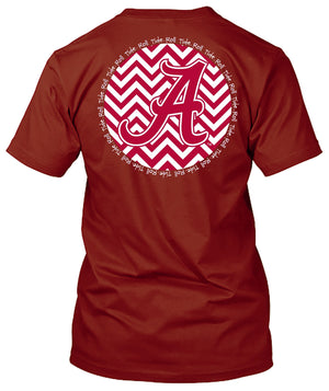 Alabama Crimson Tide Chevron Tshirt