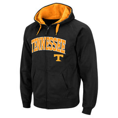 Tennessee Volunteers Men's Black Zip Hoodie