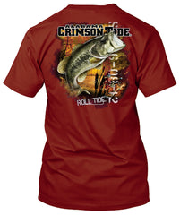 Alabama Crimson Tide Bass Fishing Tshirt