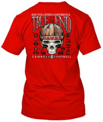 Georgia Bulldogs To the End Skull Tshirt