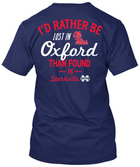 Ole Miss Rebels Lost in Oxford Navy Tshirt