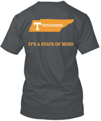 Tennessee Volunteers State of Mind Home Smokey Grey Tshirt