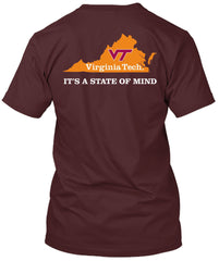 Virginia Tech Hokies State of Mind Home(Comfort Colors Brand) Tshirt