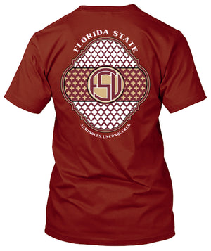 Florida State Seminoles Monogram Design Tshirt