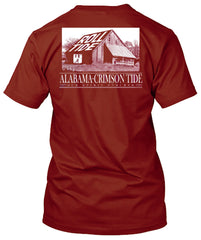 Alabama Crimson Tide Barn Roll Tide Tshirt