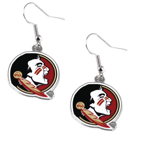 Florida State Seminoles Logo Dangler Earrings