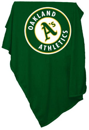 MLB Oakland Athletics Sweatshirt Tackle Twill Blanket