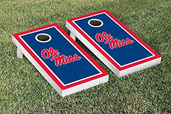 Ole Miss Rebels Cornhole Game Set Border Version 1