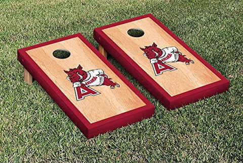 Picture of Arkansas Razorbacks Cornhole Game Set Hardcourt Border Version College Vault