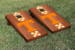 Tennessee Volunteers Cornhole Game Set Rosewood Stained Stripe Version