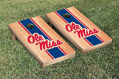 Ole Miss Rebels Cornhole Game Set Hardcourt Stripe Version