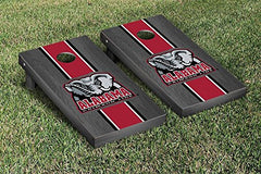 Alabama Crimson Tide Cornhole Game Set Onyx Stained Stripe Version 2