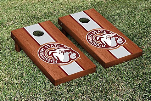 Picture of Mississippi State Bulldogs Cornhole Game Set Rosewood Stained Stripe Version