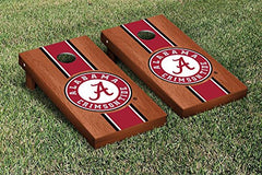 Alabama Crimson Tide Cornhole Game Set Rosewood Stained Stripe Version