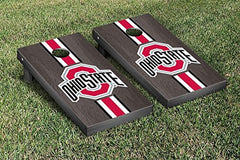 Ohio State Buckeyes Cornhole Game Set Onyx Stained Stripe Version