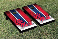 Ole Miss Rebels Cornhole Game Set Vintage Version