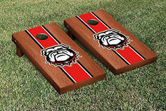 Georgia Bulldogs Cornhole Game Set Rosewood Stained Stripe Version 2