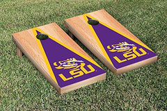 LSU Tigers Cornhole Game Set Hardcourt Triangle Version