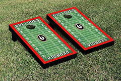 Georgia Bulldogs Cornhole Game Set Football Field Version