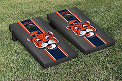 Auburn Tigers Cornhole Game Set Onyx Stained Stripe Version College Vault