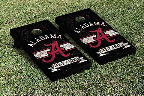 Picture of Alabama Crimson Tide Cornhole Game Set Banner Vintage Version
